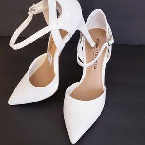 Christian Siriano White Heels